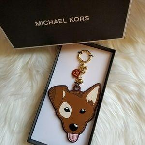 Michael Kors Spot Leather CHIHUAHUA Dog Key Charm
